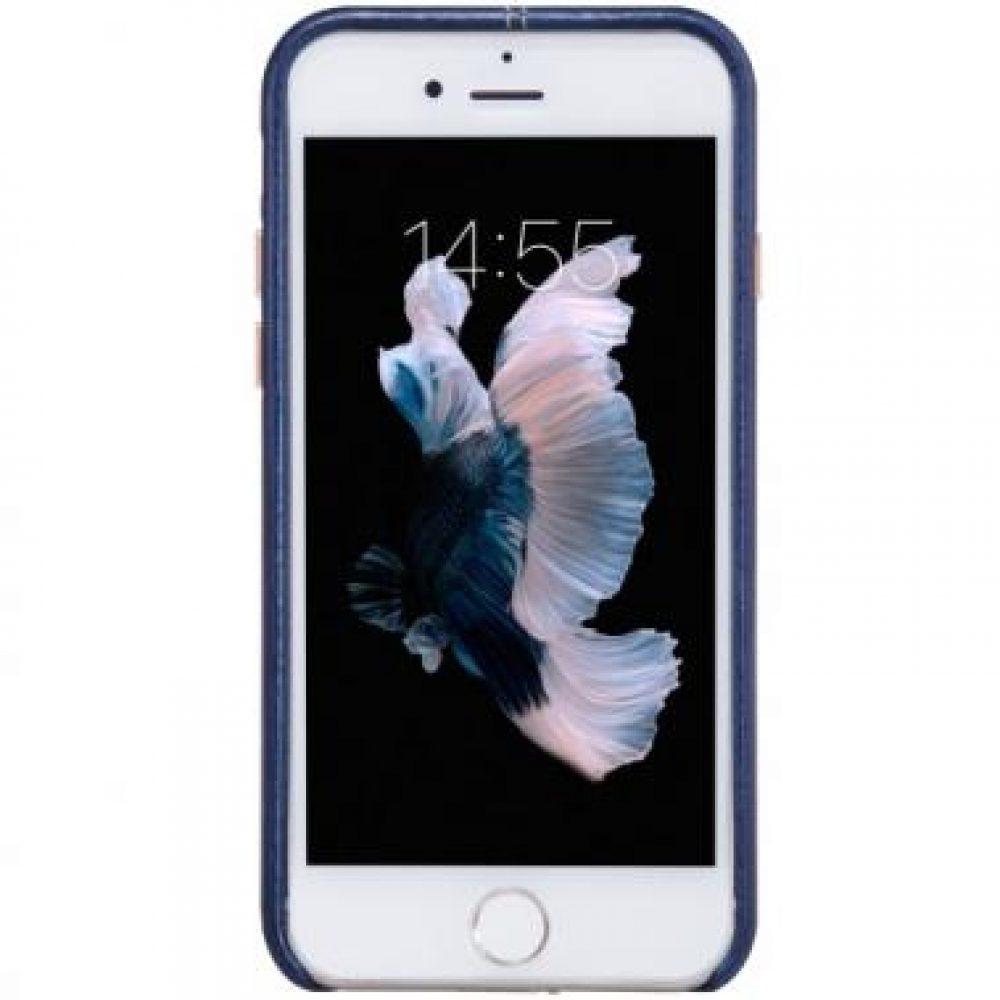nilkin leather case blauw iphone7