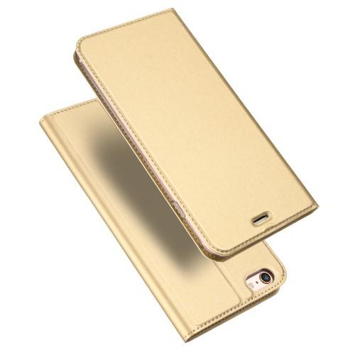 Leren skin case voor iPhone 6/6S Plus – Goud