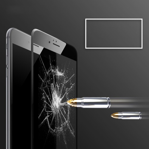 ROCK voor iPhone 6/6S 2.5D Tempered Glass Screen Protector – zwart