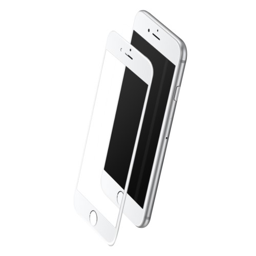 ROCK voor iPhone 6/6S 2.5D Tempered Glass Screen Protector – wit