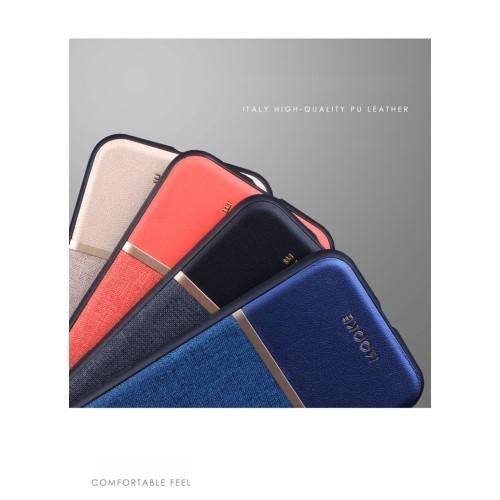 TPU Linnen en Leren hoesje voor iPhone 7 / 8 / SE 2020