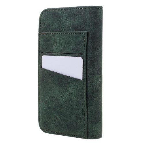 iph7 wallet book vintage groen