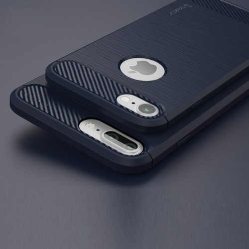 TPU Soft Case voor iPhone 7 Plus / 8 Plus – Donkerblauw