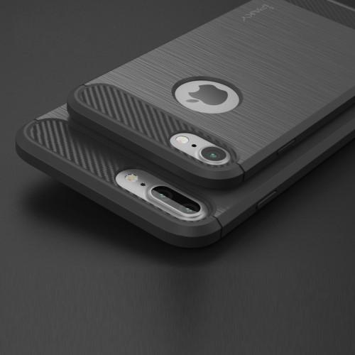 TPU Soft Case voor iPhone 7 Plus / 8 Plus – Grijs