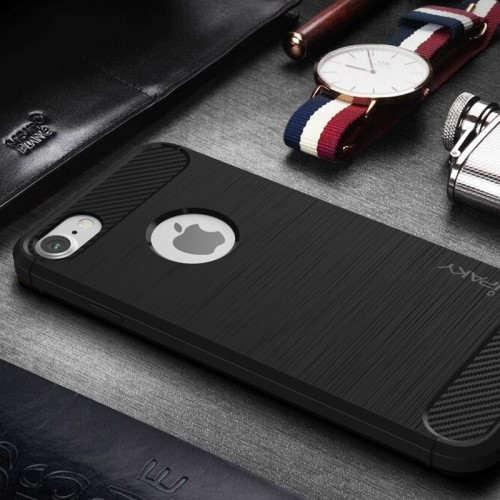 TPU Soft Case voor iPhone 7 Plus / 8 Plus – Zwart