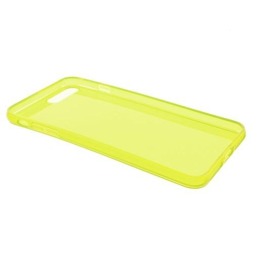 Transparante soft case voor iPhone 7 Plus / iPhone 8 Plus – Geel
