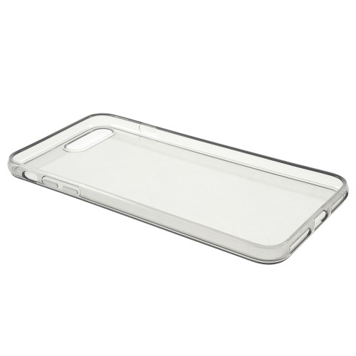 Transparante soft case voor iPhone 7 Plus / iPhone 8 Plus – Grijs