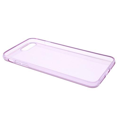 Transparante soft case voor iPhone 7 Plus / iPhone 8 Plus – Paars