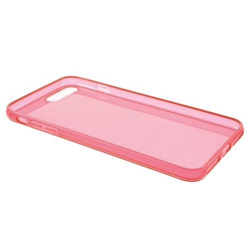Transparante soft case voor iPhone 7 Plus / iPhone 8 Plus – Rood