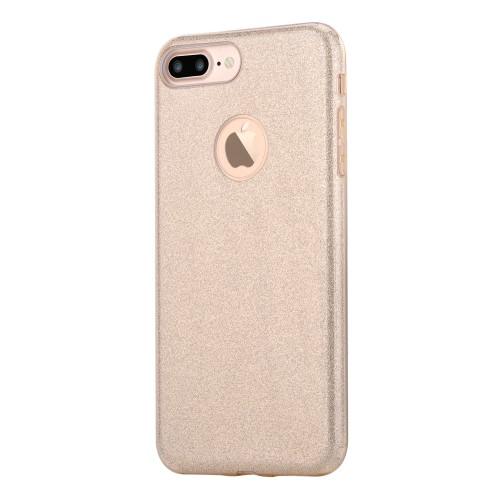 Vouni Shine Glitter Case voor iPhone 7 Plus / iPhone 8 Plus – Goud