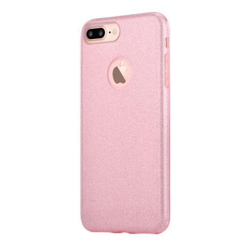 Vouni Shine Glitter Case voor iPhone 7 Plus / iPhone 8 Plus – Roségoud