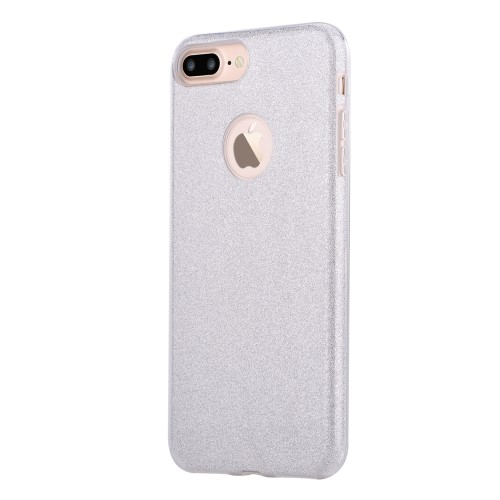 Vouni Shine Glitter Case voor iPhone 7 Plus / iPhone 8 Plus – Zilver