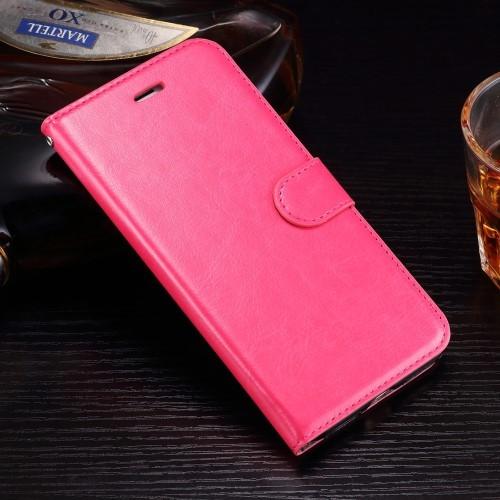 Leren Wallet Book Case voor iPhone 7 Plus / iPhone 8 Plus – Roze