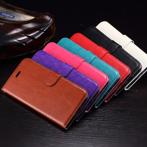 Leren Wallet Book Case voor iPhone 7 Plus / iPhone 8 Plus