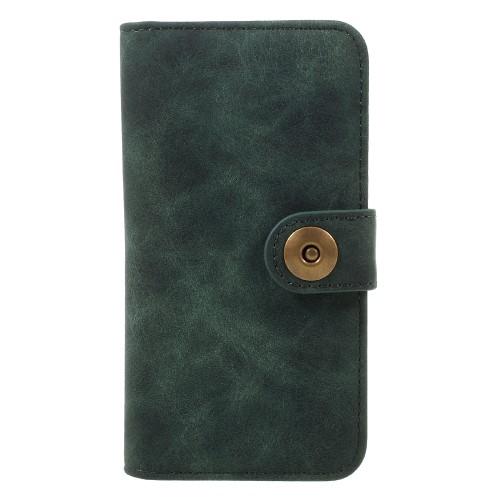 Vintage Leren Wallet Book Case voor iPhone 7 – Groen