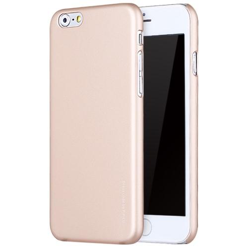 X-LEVEL Ultradunne hard case met rubber coating voor iPhone 6s/6 – Goud