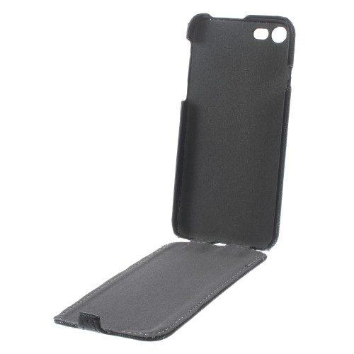 iphone7 zwart leder verticale flip binnenkant