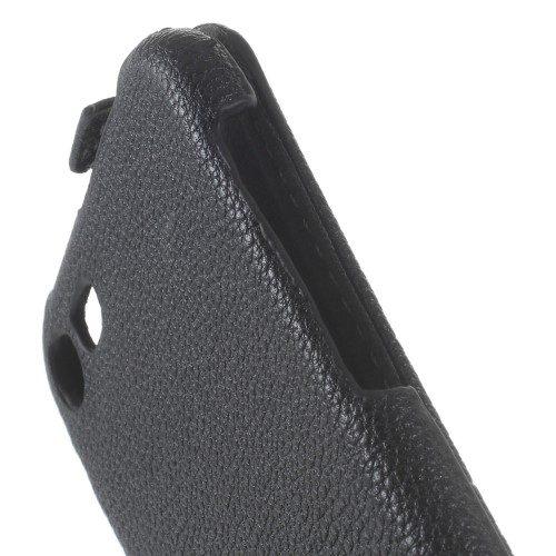 iphone7 zwart leder verticale flip closeup