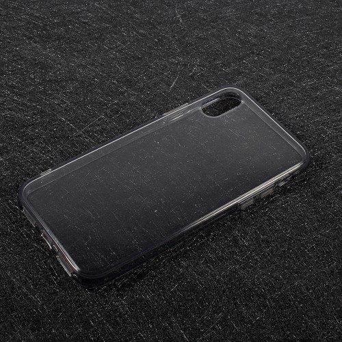 iphone x hoesje grijs transparant