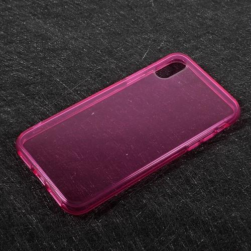 Transparant iPhone X / iPhone XS hoesje – Roze