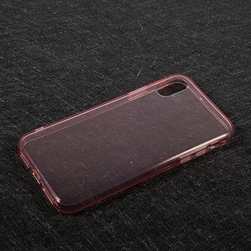 Transparant iPhone X / iPhone XS hoesje – Lichtroze