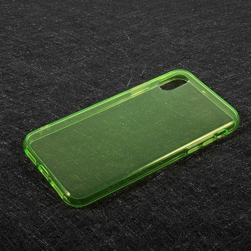 Transparant iPhone X / iPhone XS hoesje – Groen