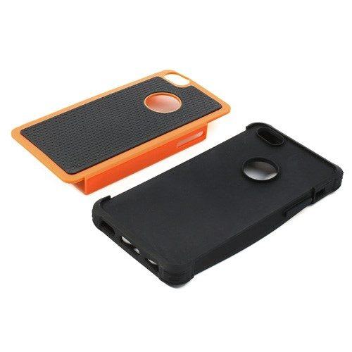 iphone 5c hoesje zwart oranje delen