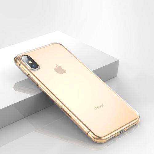 Stijlvol TPU iPhone X / XS hoesje – transparant goud