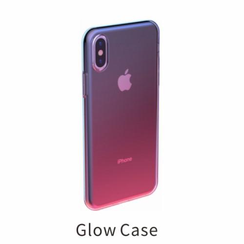 Glow case TPU voor iPhone XS / iPhone X – Roze