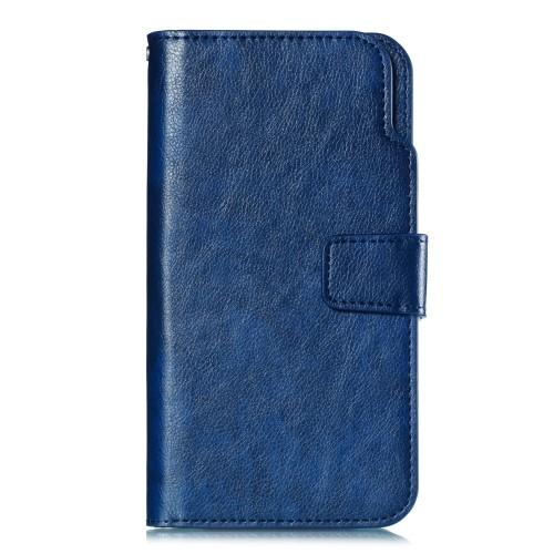 Lederen wallet case met 9 vakjes – iPhone X / iPhone XS – Blauw