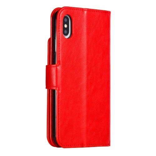 iphone xs wallet rood achterkant