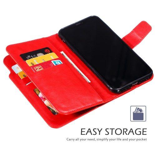 iphone xs wallet rood binnenkant