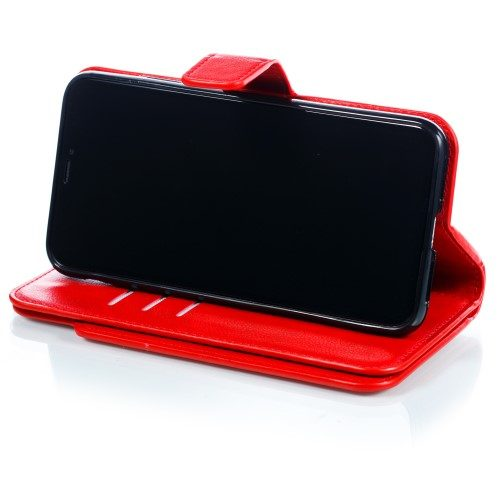 iphone xs wallet rood staand