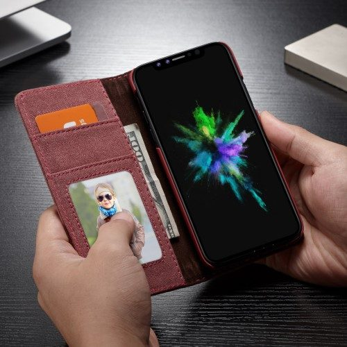 iphonexs caseme wallet rood binnenkant