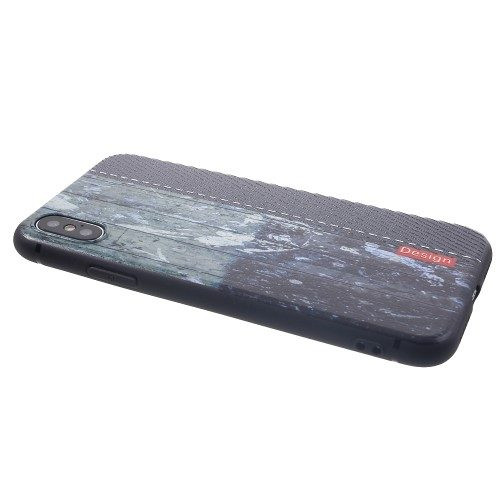 tpu case iphone xs houtpatroon liggend