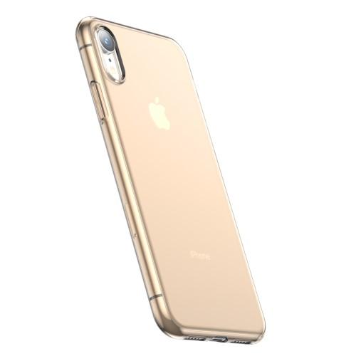 Basic iPhone XR TPU hoesje – Transparant Goud
