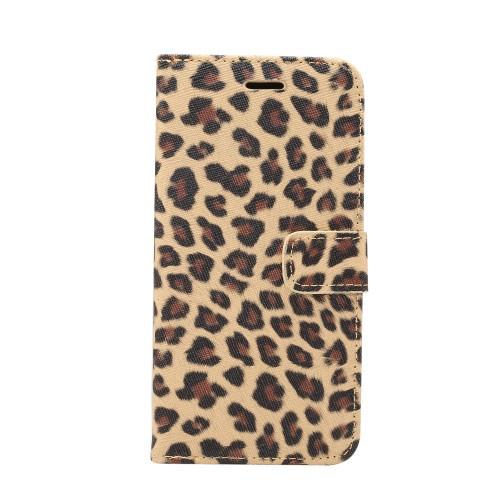 Luipaard patroon Wallet Case voor iPhone XR – Bruin