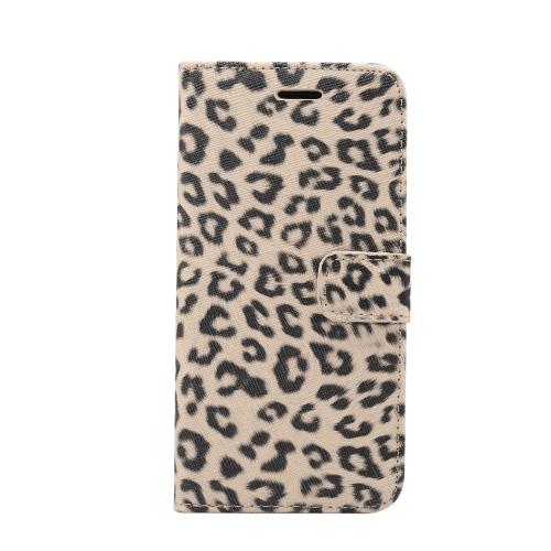 Luipaard patroon Wallet Case voor iPhone XR – Beige