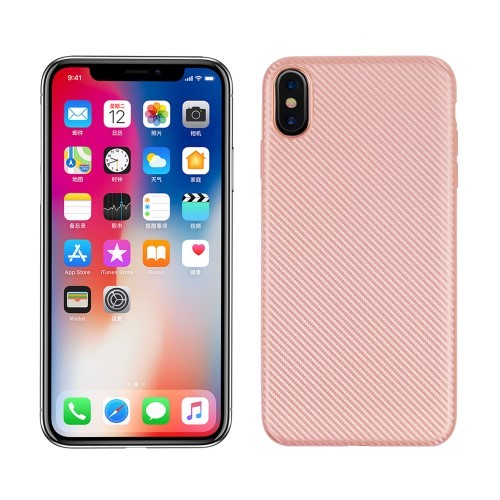 iPhone XS Max 6.5 inch TPU hoesje – Rosé goud