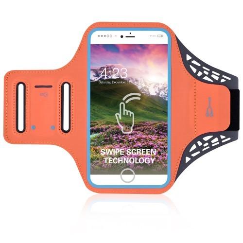 Oranje sportarmband voor iPhone 8, 7 en 6