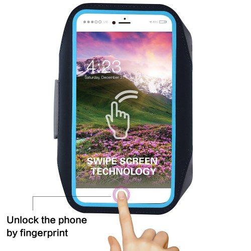 iphone8 zwarte sportarmband