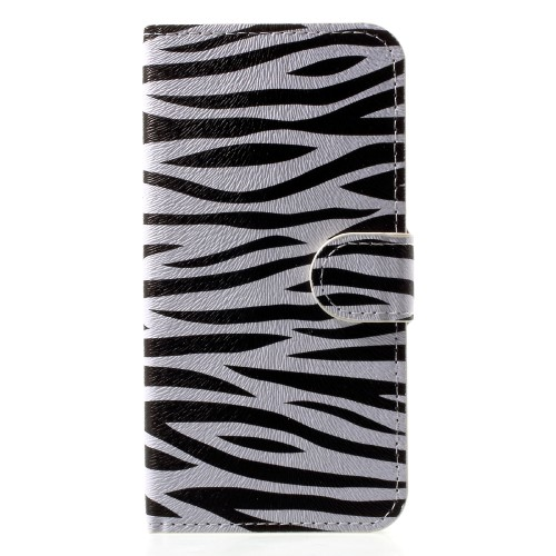 Wallet Book hoesje met zebraprint voor iPhone X / iPhone XS