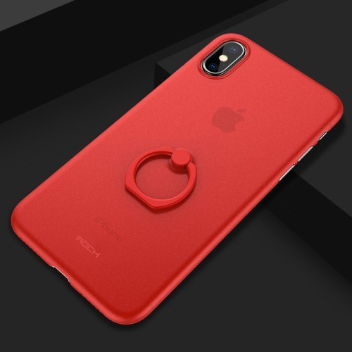 Superdun iPhone X / XS hoesje met kickstand ring – rood