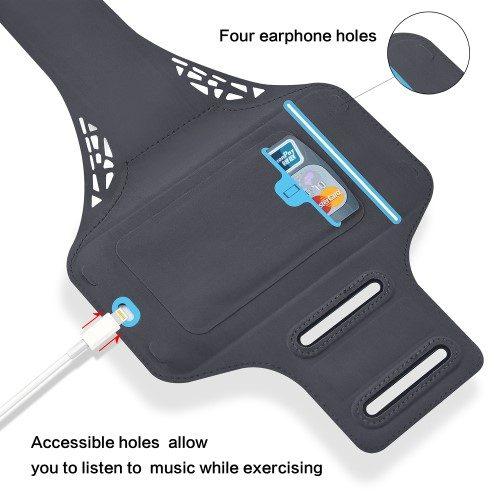 zwarte sportarmband iphone