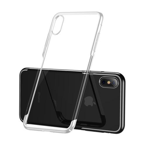 Doorzichtig iPhone X / XS hoesje met glans en bumper