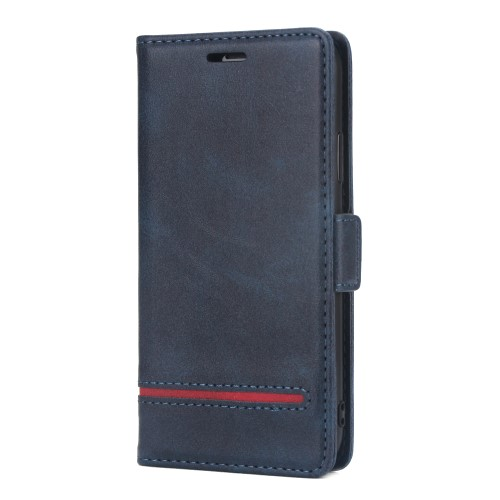 Leather Wallet Book iPhone XS Max Case – Blauw