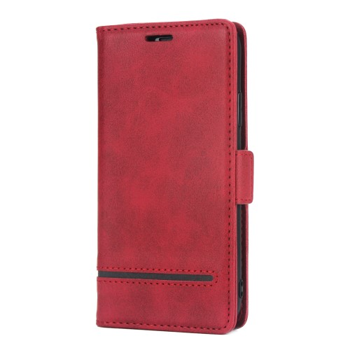 Leather Wallet Book iPhone XS Max Case – Rood
