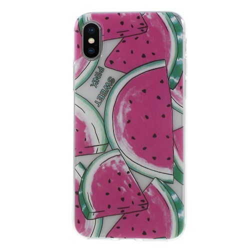 TPU iPhone XS / X hoesje – watermeloen