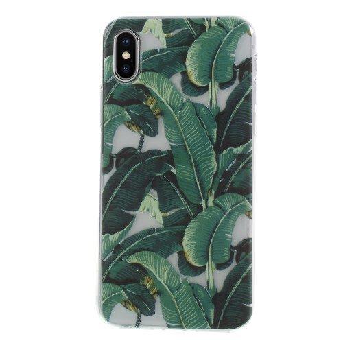 iphone x-iphone xs-hoesje- groen-blad