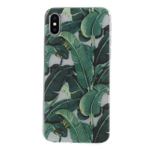 TPU iPhone XS / X hoesje – groen blad